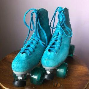 Light Blue Roller Skates